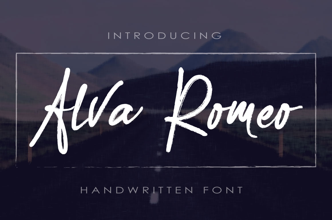 Print on Demand: Alva Romeo Script & Handwritten Font By beeart009