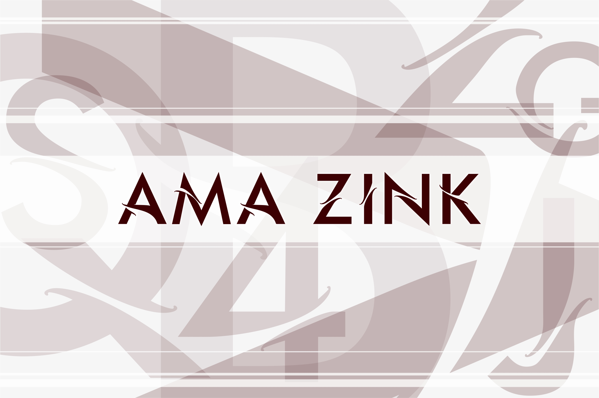Ama Zink Font By Greenlines Studios