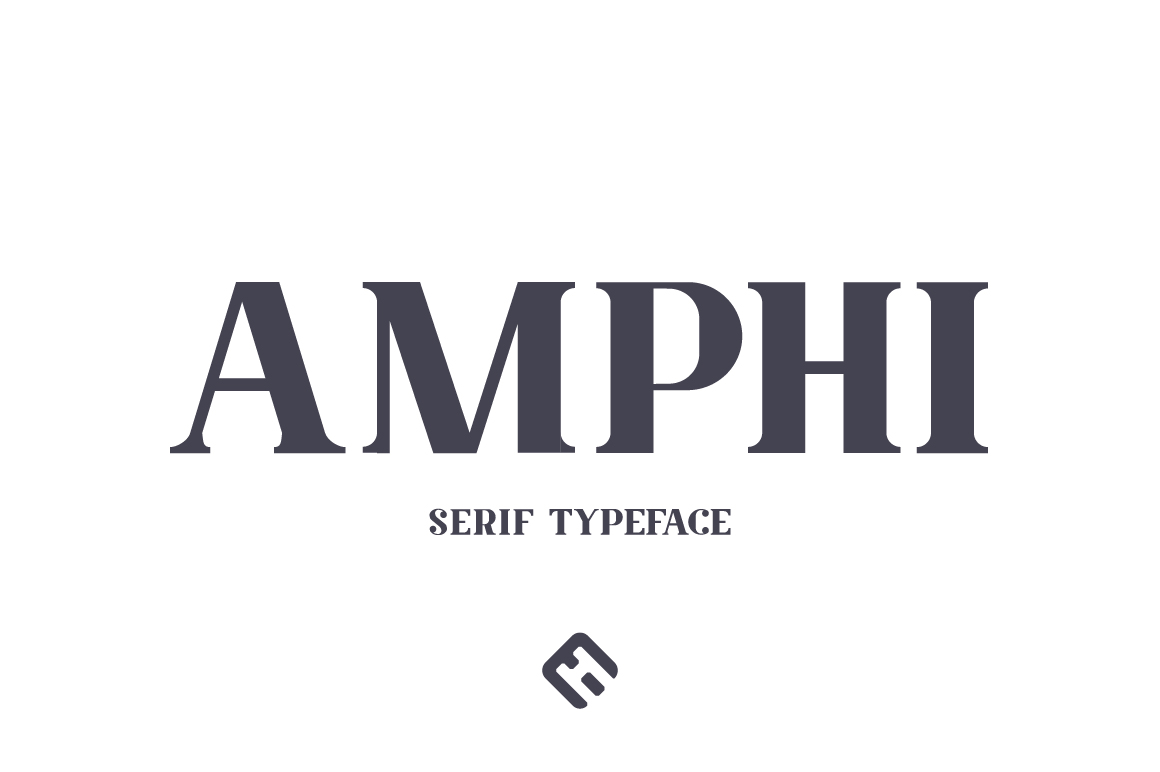 Print on Demand: Amphi Serif Font By Mike Hill