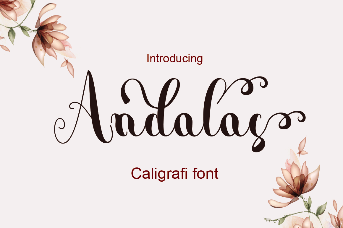 Andalas Font By halimantoni103