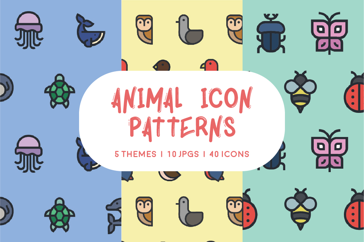 Animal Icon Patterns Graphic Icons By Mike Hill