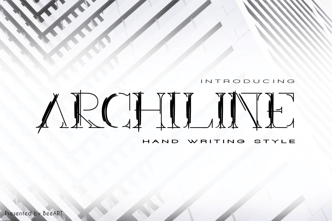Print on Demand: Archiline Display Font By beeart009