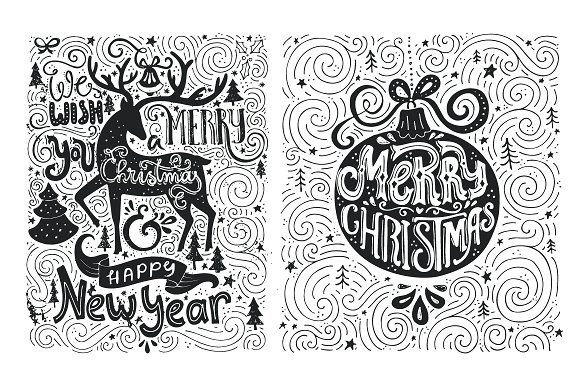 Artistic Christmas Cards Graphic Illustrations By Favete Art - Image 2