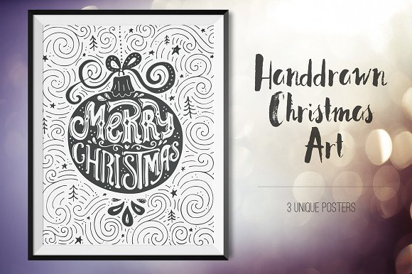 Artistic Christmas Cards Graphic Illustrations By Favete Art