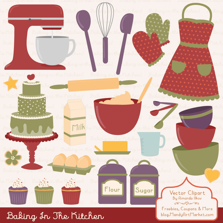 Autumn Baking in the Kitchen Graphic Illustrations By Amanda Ilkov