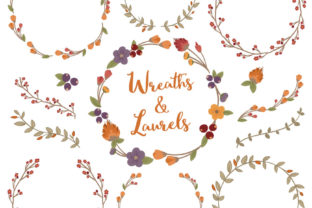 Autumn Floral Laurals and Wreaths Graphic By Amanda Ilkov