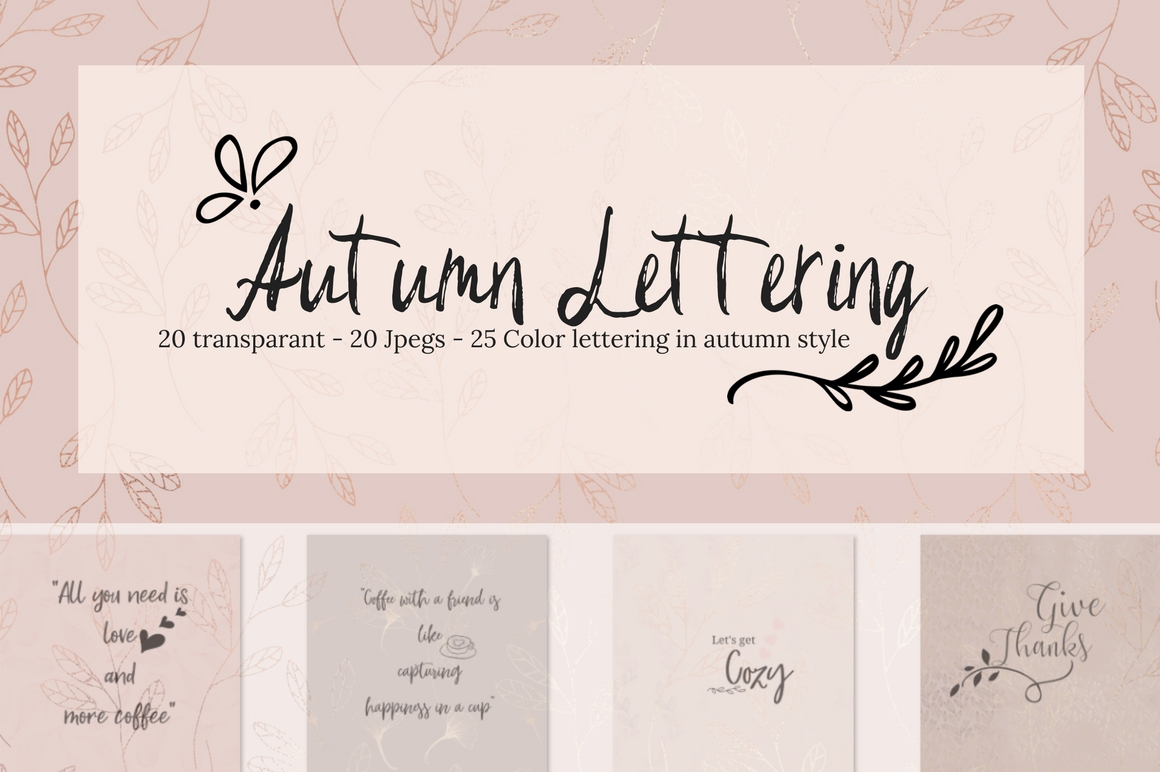 Autumn Lettering Graphic Illustrations By Creative Stash