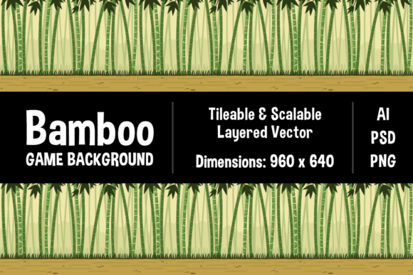 bamboo forest game background graphic by the stock croc creative