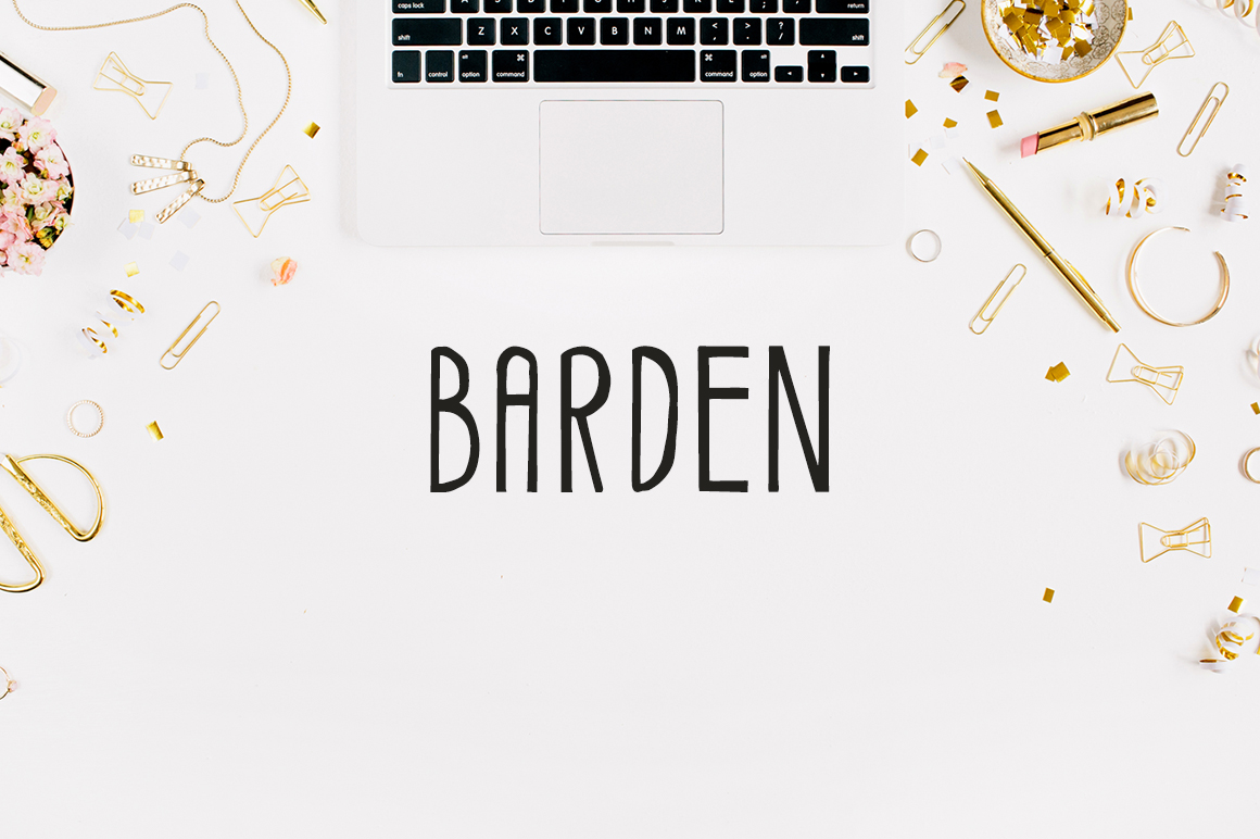 Print on Demand: Barden Display Font By Creative Tacos