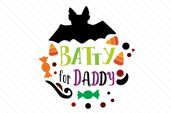 Batty for Daddy Halloween Craft Cut File By Creative Fabrica Crafts