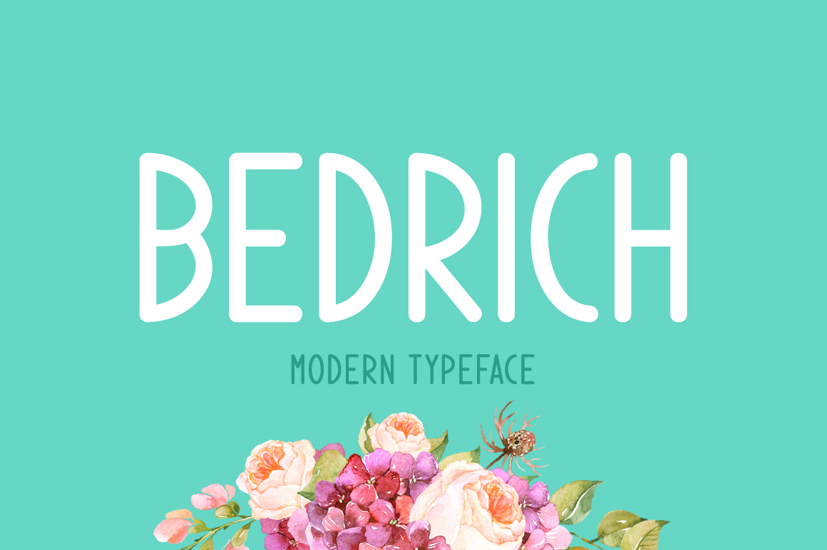 Print on Demand: Bedrich Display Font By Creative Fabrica Fonts