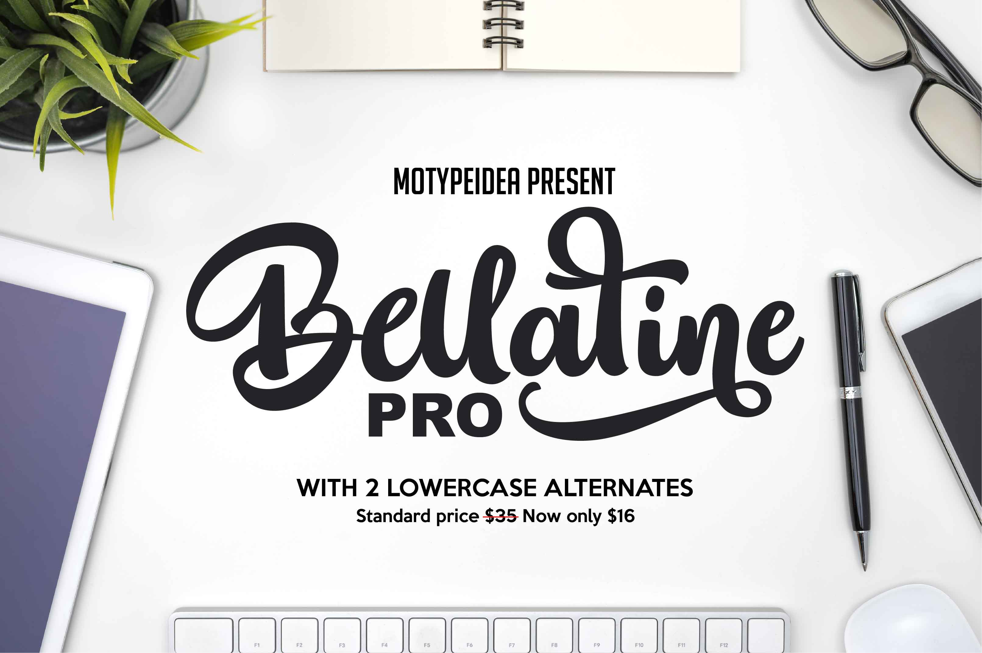 Print on Demand: Bellatine Script & Handwritten Font By Motypeidea