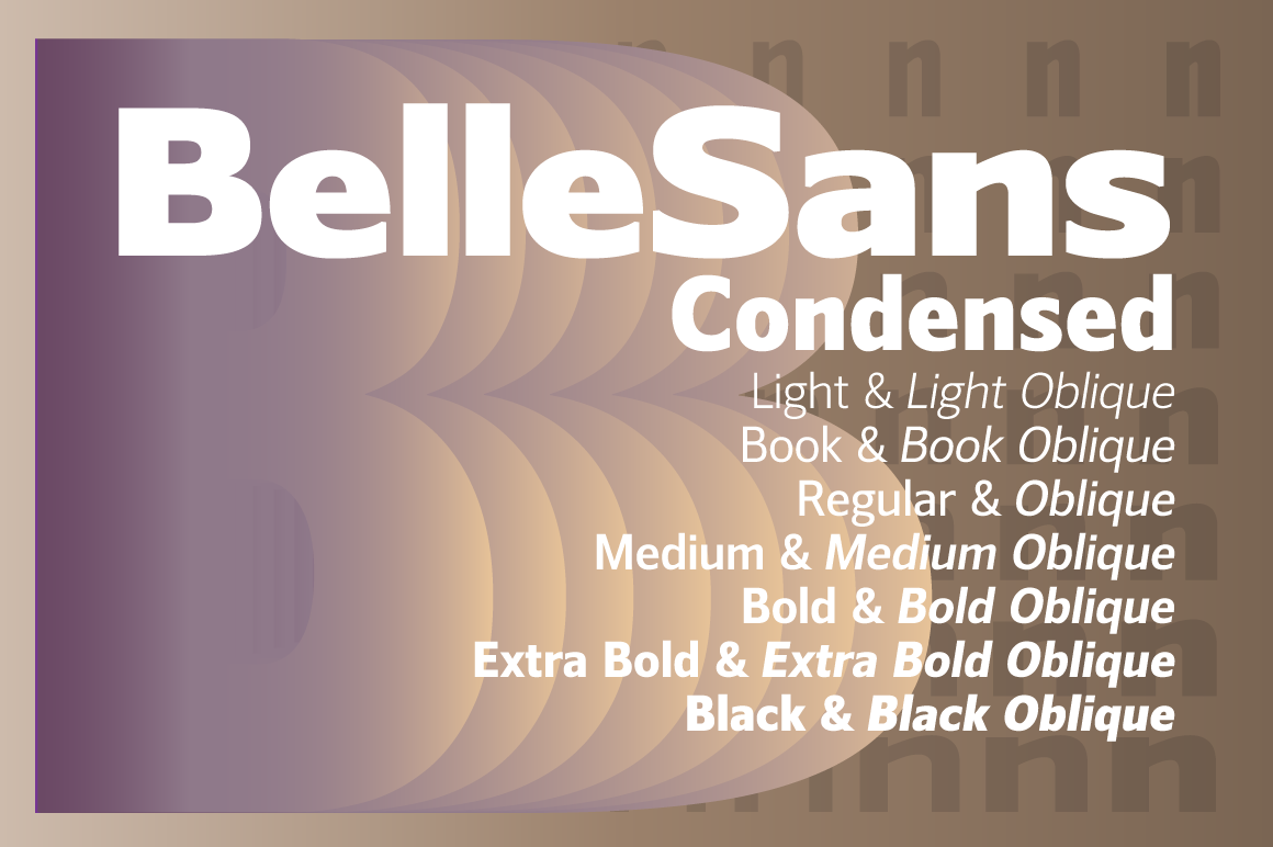 Print on Demand: Belle Sans Condensed Family Sans Serif Font By BluHead Studio