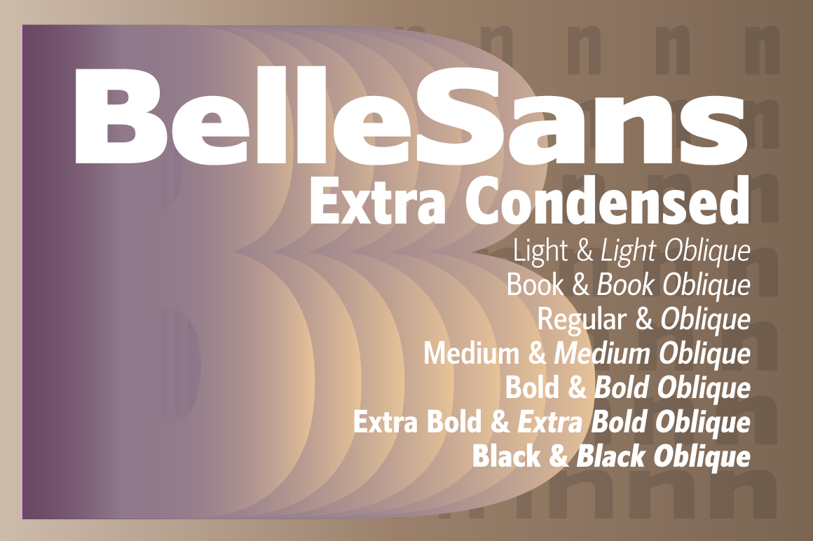 Print on Demand: Belle Sans Extra Condensed Family Sans Serif Font By BluHead Studio