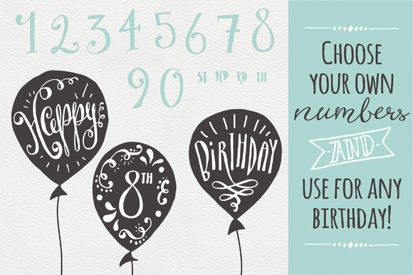 Download Free Birthday And Greeting Overlays Graphic By The Pen And Brush for Cricut Explore, Silhouette and other cutting machines.
