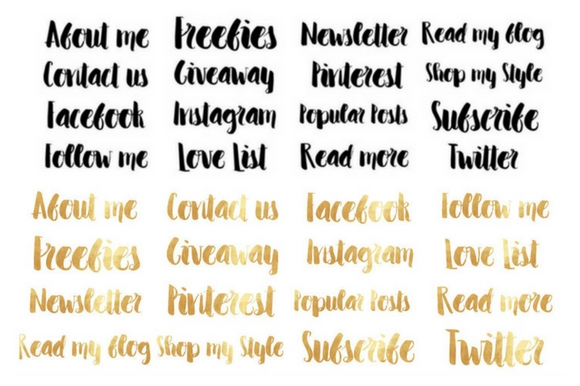 Blog Elements - Black & Gold Graphic By Creative Stash Image 3