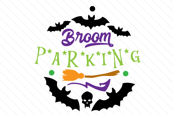 Broom Parking Halloween Craft Cut File By Creative Fabrica Crafts