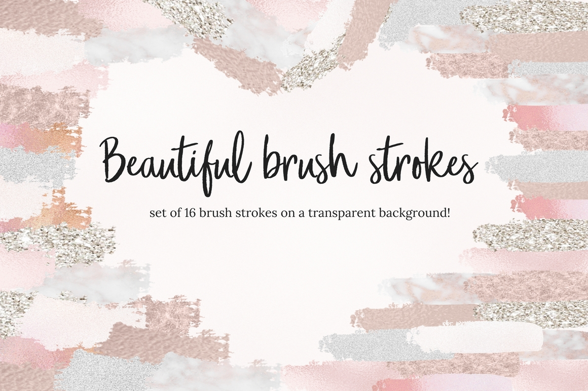 Brush Strokes Part 2 Graphic Illustrations By Creative Stash