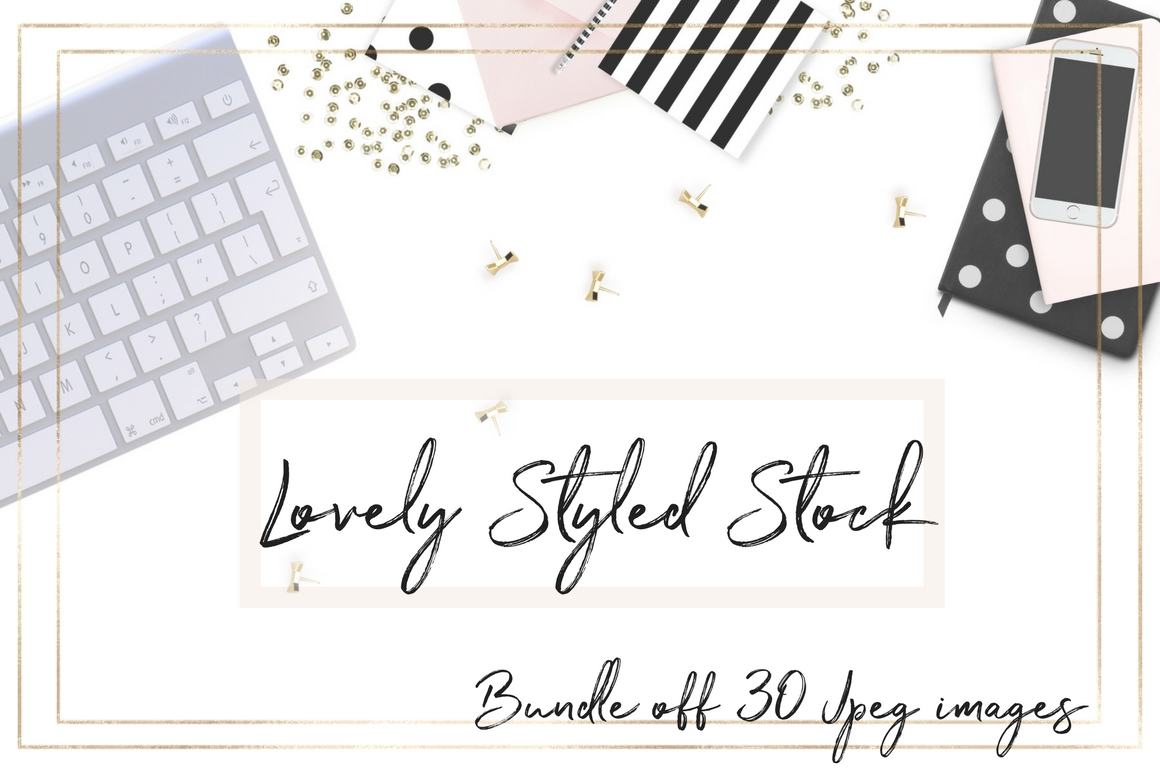 Bundle with Feminine Styled Stock Graphic Product Mockups By Creative Stash