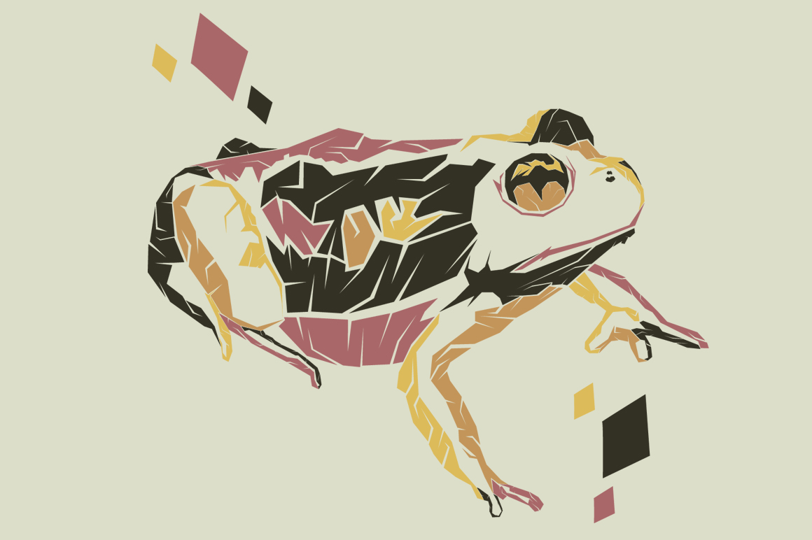 Print on Demand: Burrowing Frog Pop Art Illustration Graphic Illustrations By Gblack Id