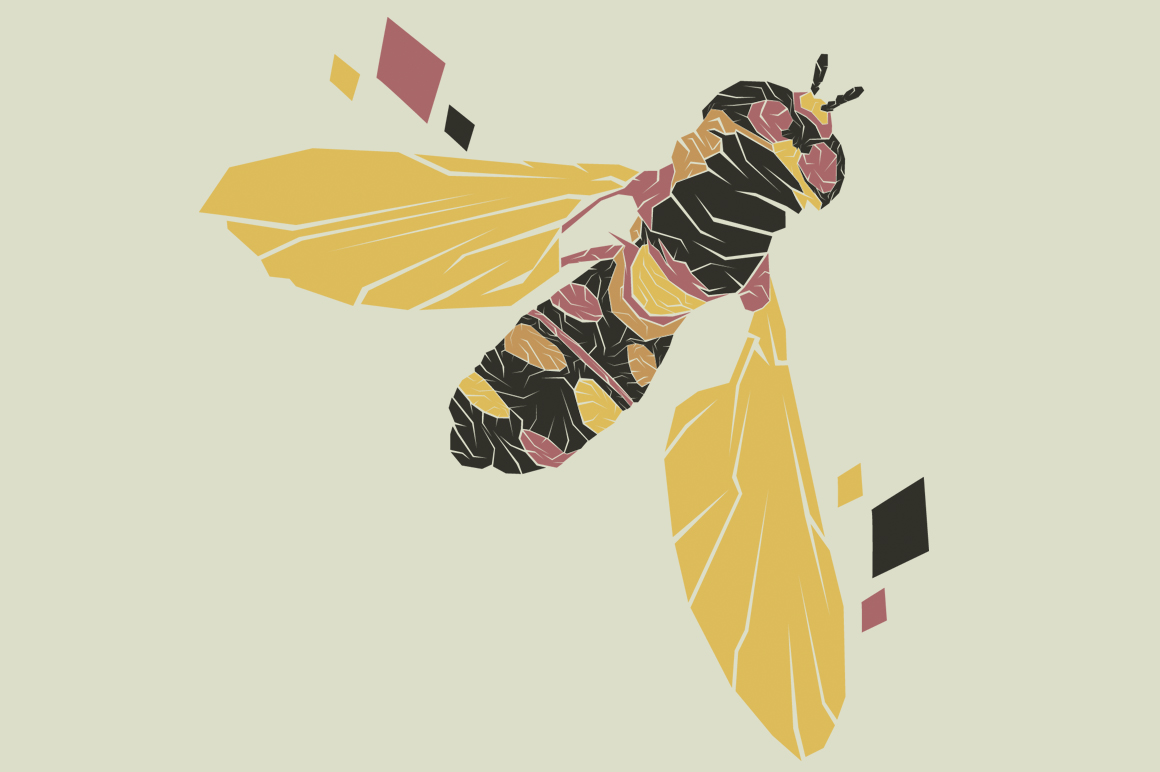 Print on Demand: Busy Native Bee Graphic Illustrations By Gblack Id