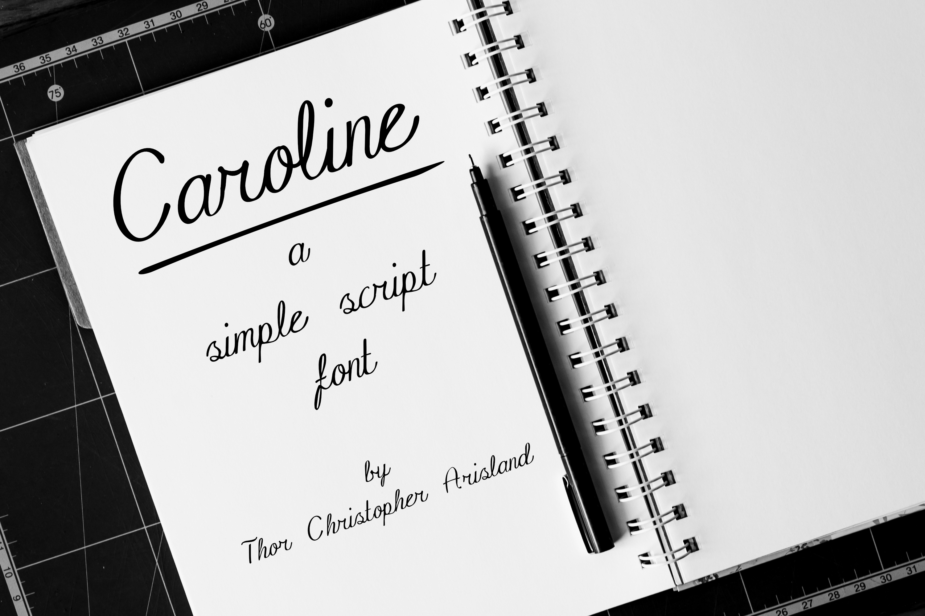 Print on Demand: Caroline Script & Handwritten Font By thorchristopherarisland