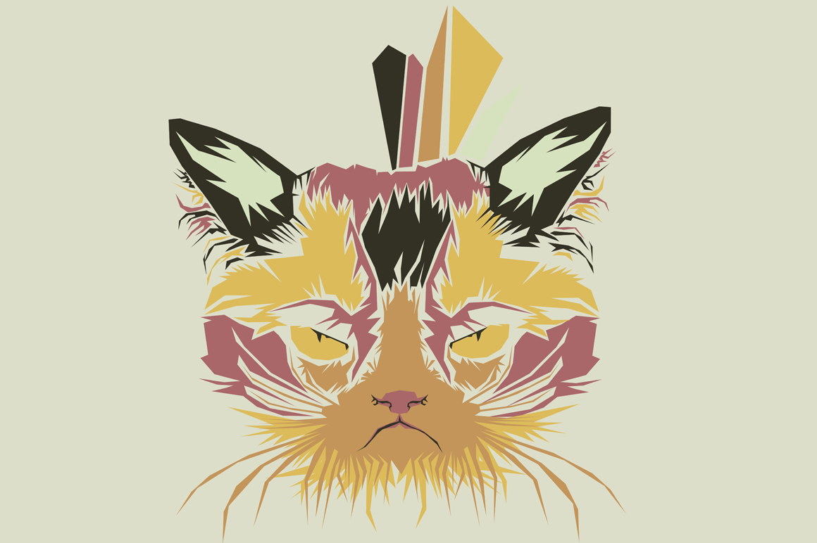 Print on Demand: Cat Pop Art Illustration Graphic Illustrations By Gblack Id