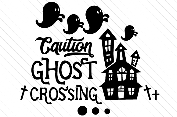 Caution Ghost Crossing Halloween Craft Cut File By Creative Fabrica Crafts - Image 2