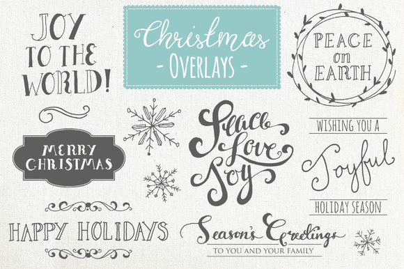 Christmas Overlays Set 1 Graphic Objects By The Pen and Brush