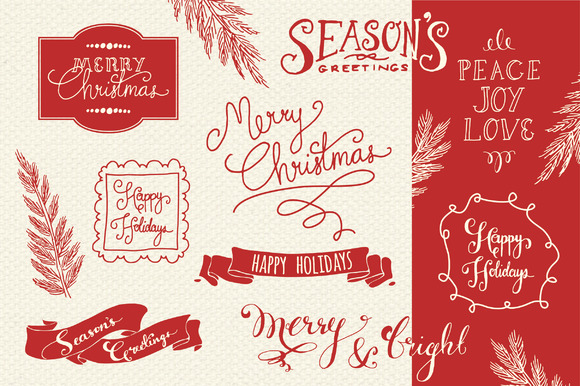 Christmas Overlays Set 2 Graphic Objects By The Pen and Brush