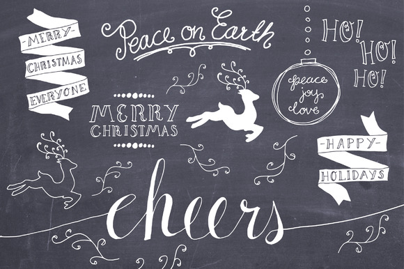 Christmas Overlays Set 3 Graphic Objects By The Pen and Brush