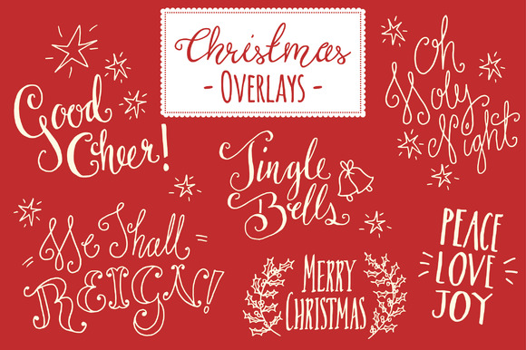 Christmas Overlays Set 5 Graphic Objects By The Pen and Brush