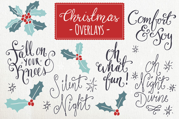 Christmas Overlays Set 6 Grafik Objekte von The Pen and Brush