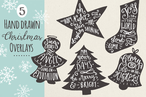 Christmas Overlays Set 7 Graphic Objects By The Pen and Brush