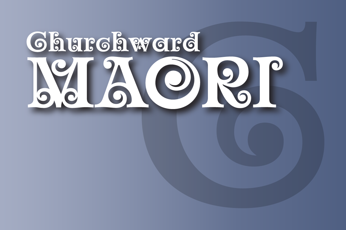 Print on Demand: Churchward Maori Decorative Font By BluHead Studio