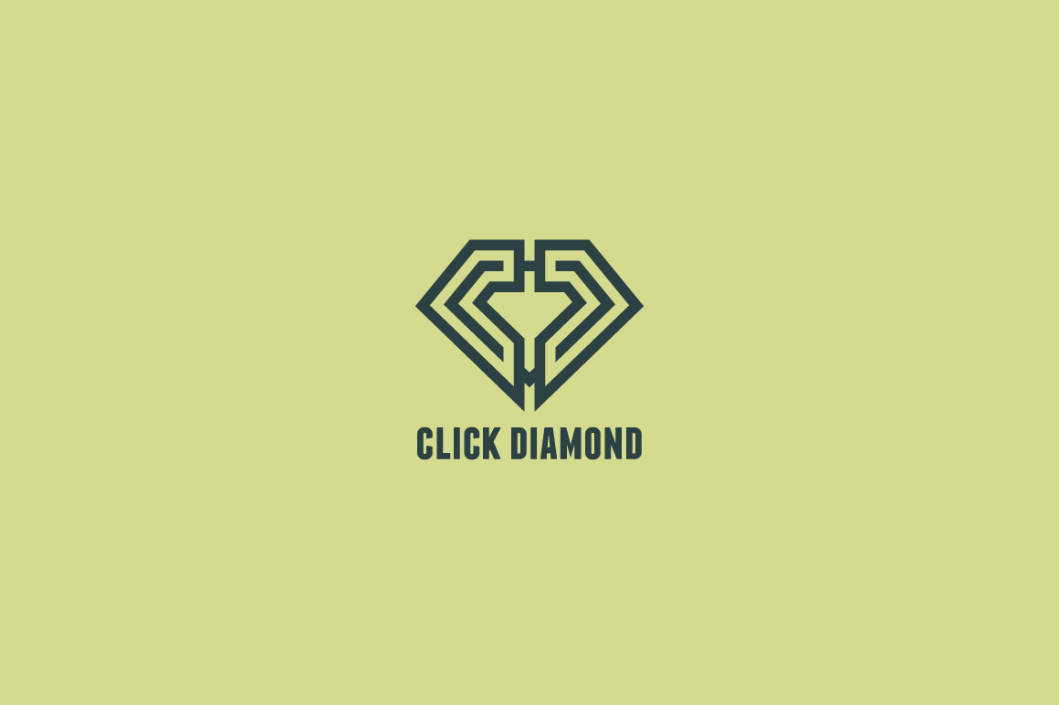 Download Free Click Diamond Logo Template Grafico Por Kreasimalam Creative for Cricut Explore, Silhouette and other cutting machines.