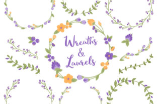 Crocus Floral Laurals and Wreaths Graphic By Amanda Ilkov