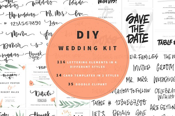 DIY Wedding Kit Graphic Crafts By Favete Art - Image 1