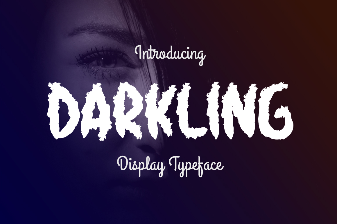 Print on Demand: Darkling Display Font By Contour Fonts