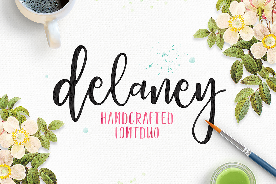 Print on Demand: Delaney Script Script & Handwritten Font By Youngtype
