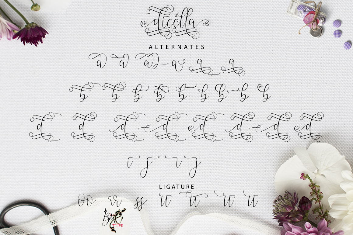 Dicella Font By Bexx Type Image 5