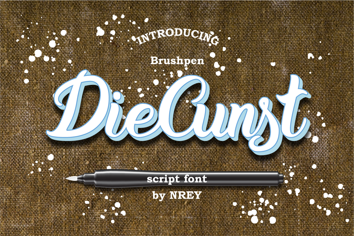 Print on Demand: DieCunst Script & Handwritten Font By NREY