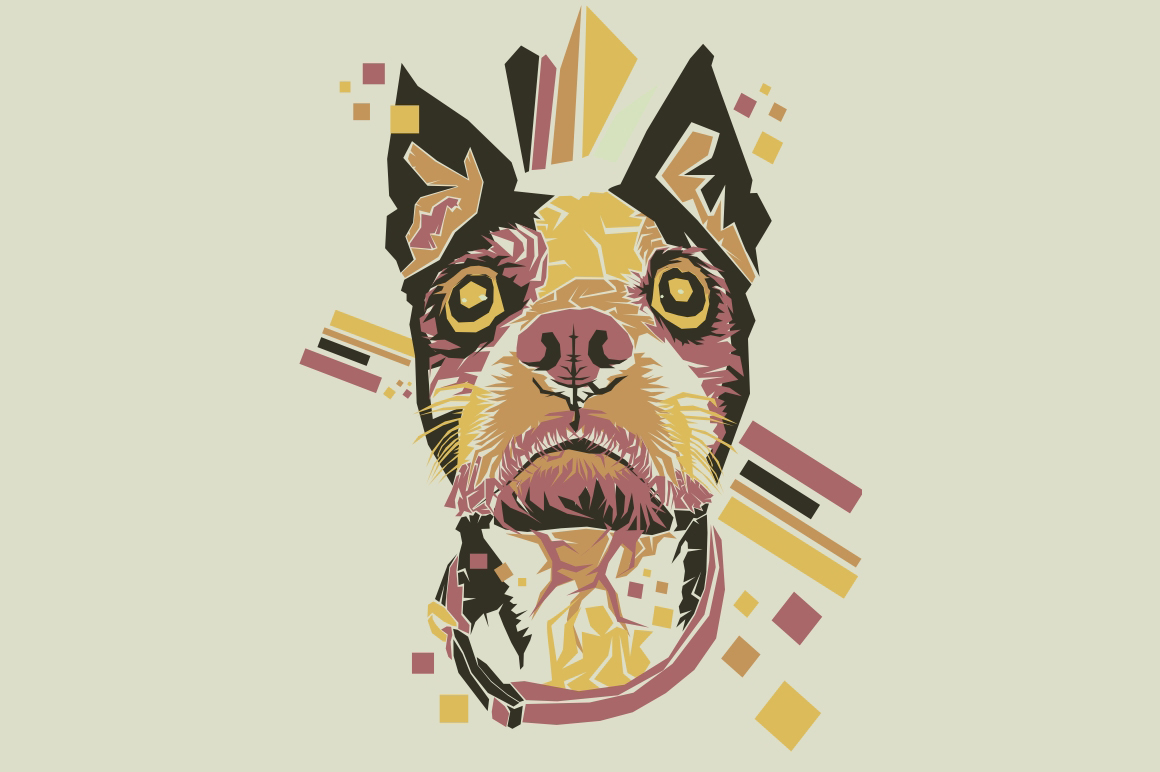 Dog Pop Art Illustration Graphic By Gblack Id