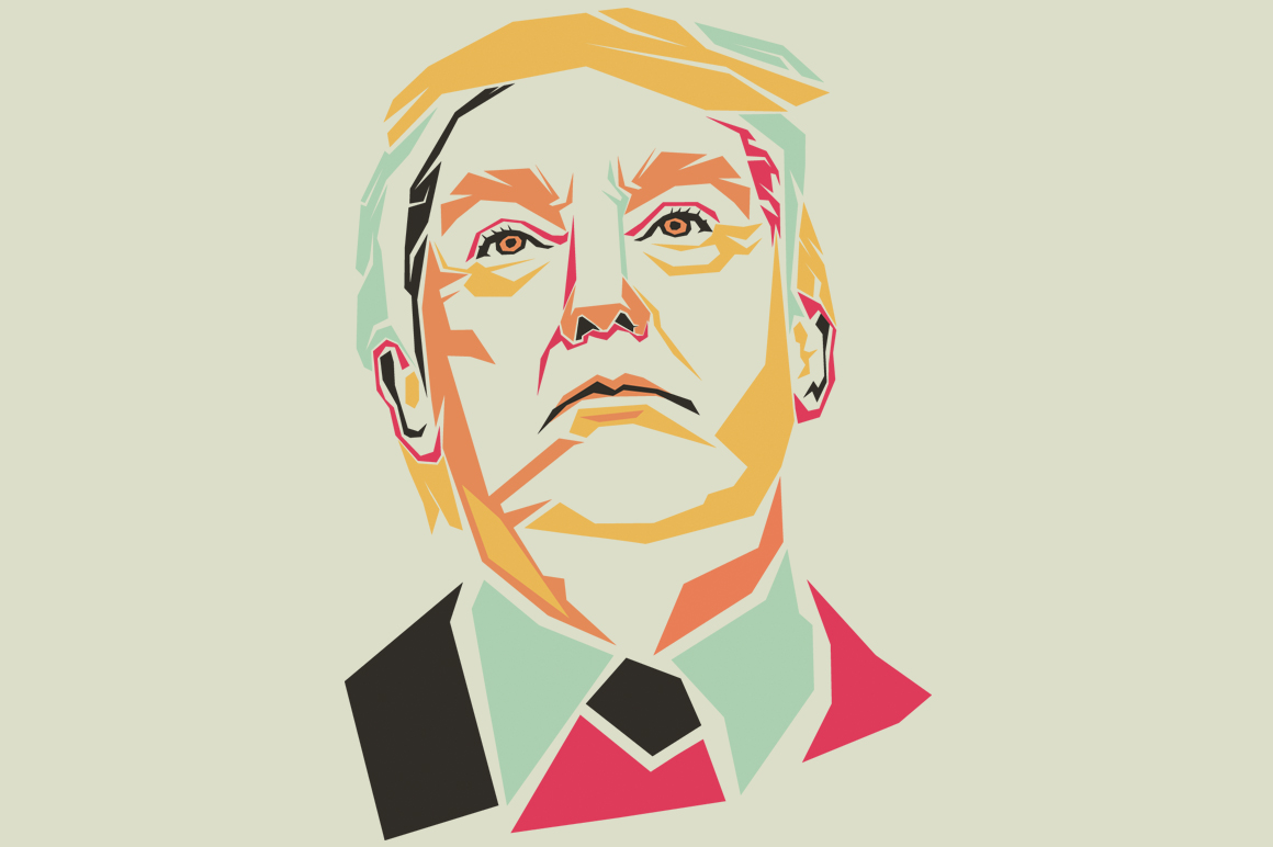 Print on Demand: Donald Trump Graphic Illustrations By Gblack Id