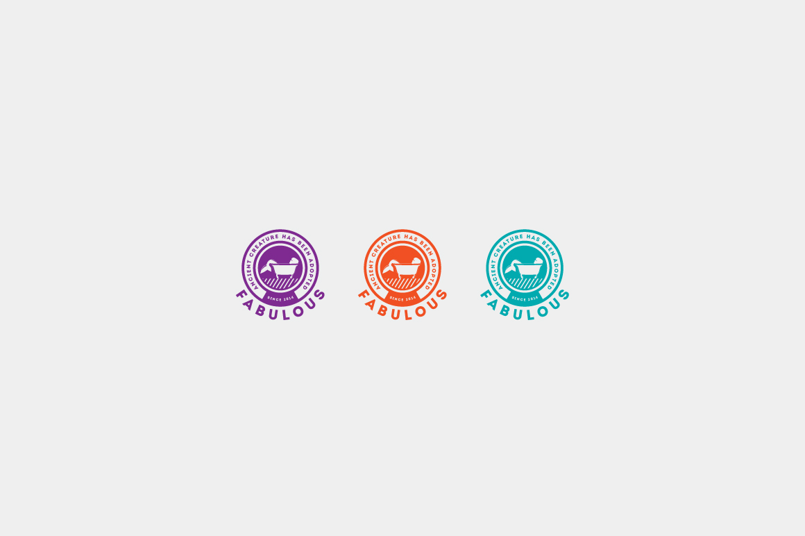 Download Free Fabulous Logo Template Graphic By Kreasimalam Creative Fabrica for Cricut Explore, Silhouette and other cutting machines.