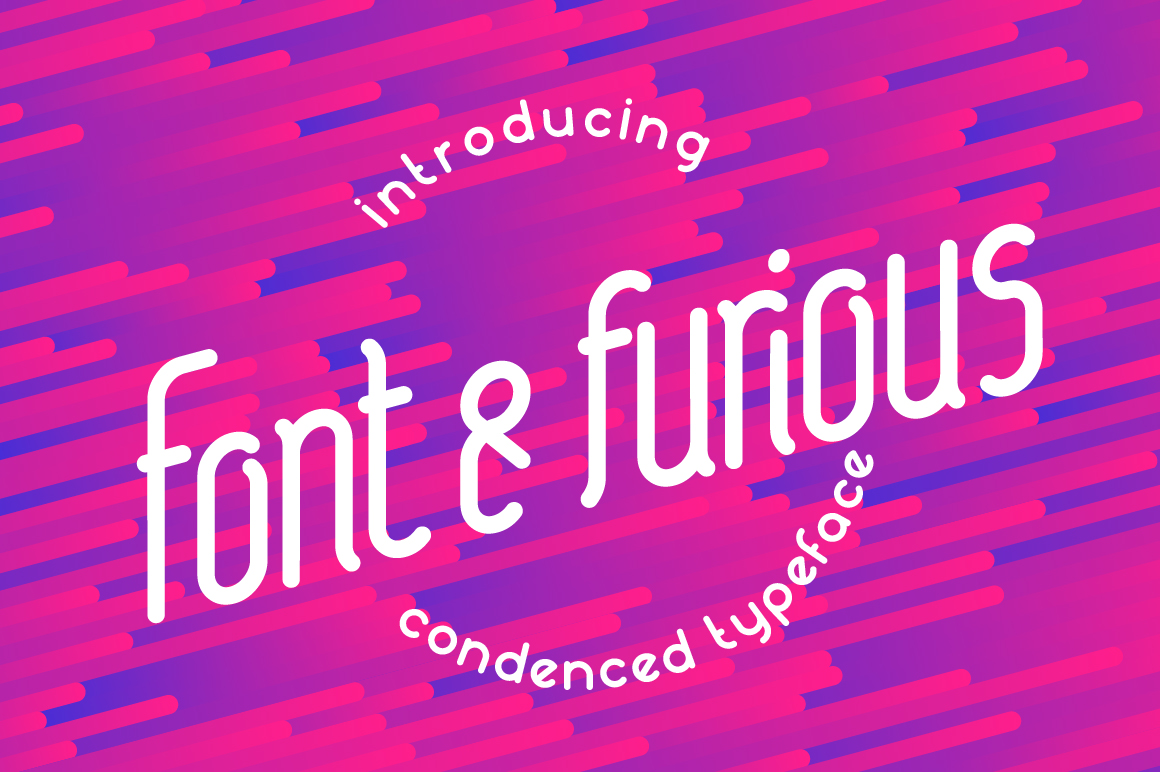 Print on Demand: Font & Furious Sans Serif Font By NREY