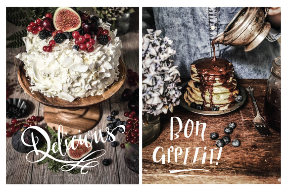 Download Free Food Photography Overlays Set 1 Graphic By The Pen And Brush for Cricut Explore, Silhouette and other cutting machines.