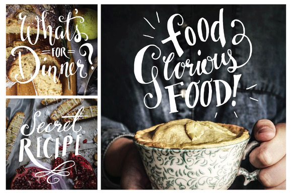 Food Photography Overlays - Set 1 Graphic Illustrations By The Pen and Brush