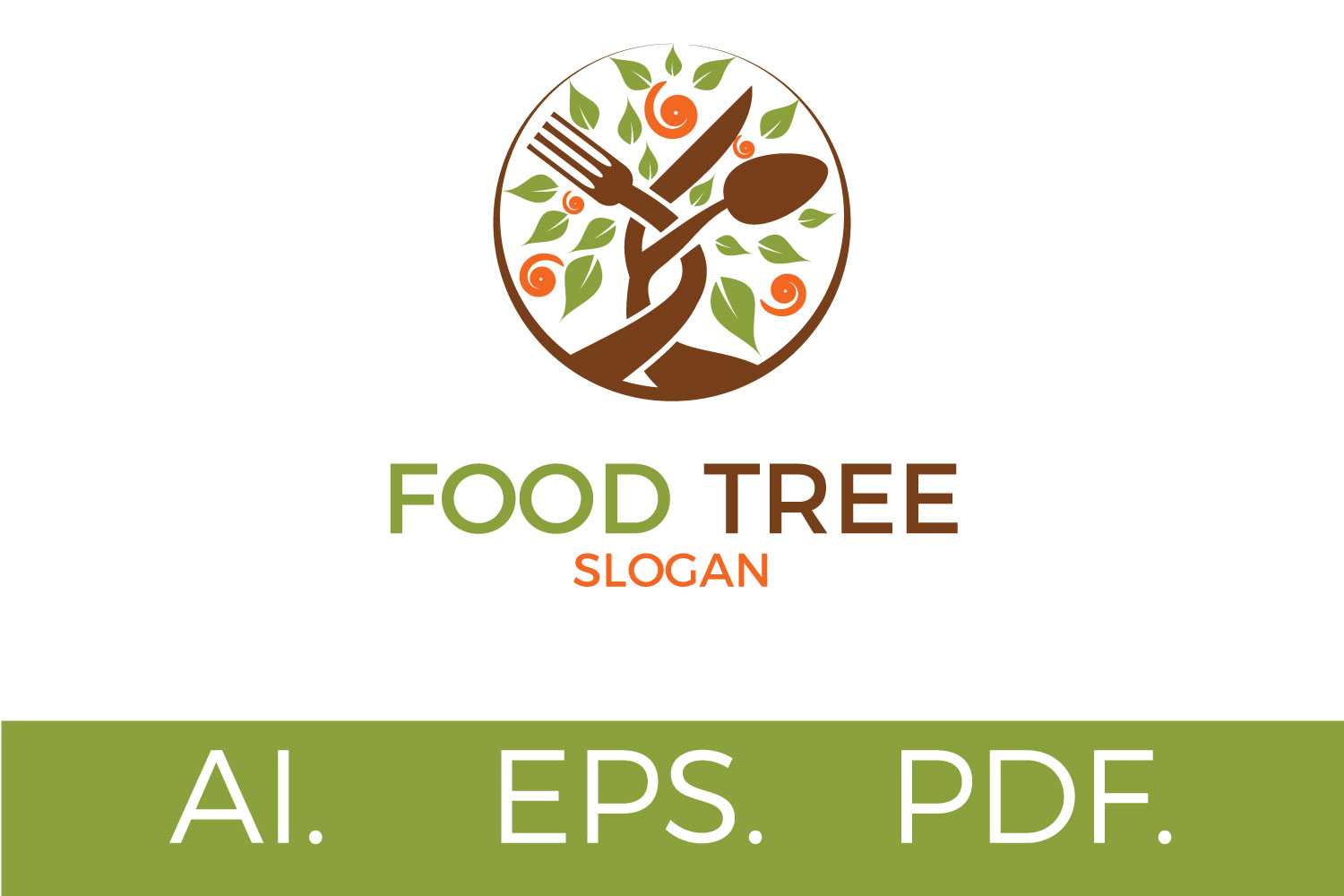 Print on Demand: Food Tree Logo Graphic Logos By Sintegra