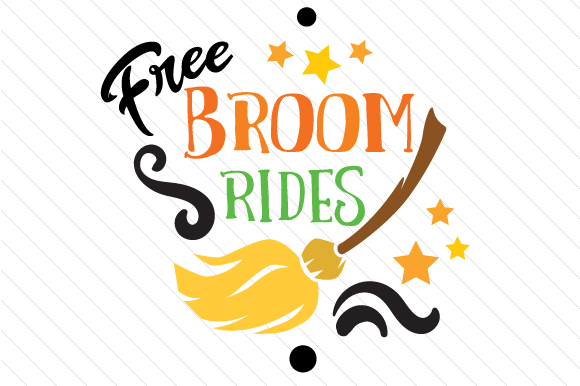 Free Broom Rides Halloween Craft Cut File By Creative Fabrica Crafts - Image 1